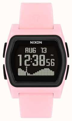 Nixon Rivaal | roze / zwart | digitaal | roze siliconen strao A1236-2531-00