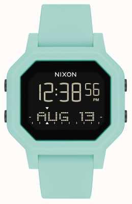 Nixon Sirene | aqua | digitaal | turquoise siliconen band A1311-2930-00