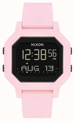 Nixon Sirene | bleek roze | digitaal | roze siliconen band A1311-3154-00