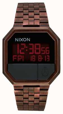 Nixon Herhaal | antiek koper | digitaal | koperkleurige ip stalen armband A158-894-00