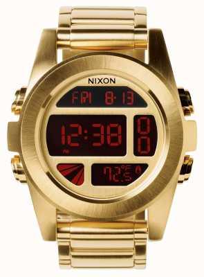 Nixon Eenheid ss | alle goud | digitaal | gouden ip stalen armband | A360-502-00