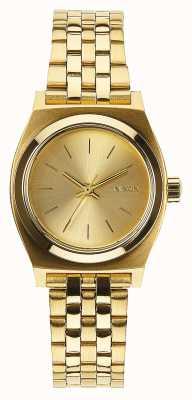 Nixon Kleine tijdteller | alle goud | gouden ip stalen armband | gouden wijzerplaat A399-502-00