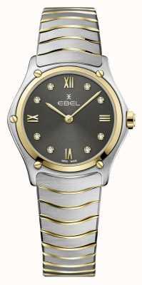 EBEL Sportklassieker voor dames | tweekleurige stalen armband | grijze diamanten wijzerplaat 1216419A
