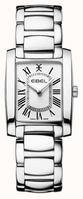 EBEL Brasilia voor dames | roestvrijstalen armband | witte wijzerplaat 1216461