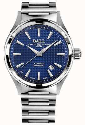 Ball Watch Company Brandweerman overwinning | stalen armband | clous de paris blauw NM2098C-S5J-BE