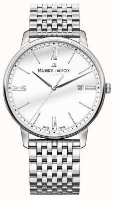 Maurice Lacroix Eliros voor heren | roestvrijstalen armband | zilveren wijzerplaat EL1118-SS002-113-2