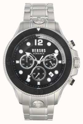 Versus Versace Heren volta versus | roestvrijstalen armband | zwarte wijzerplaat VSPVV0420