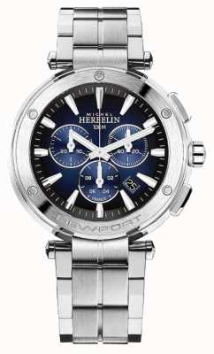 Michel Herbelin Newport-chronograaf voor heren | roestvrijstalen armband | 37688/B35