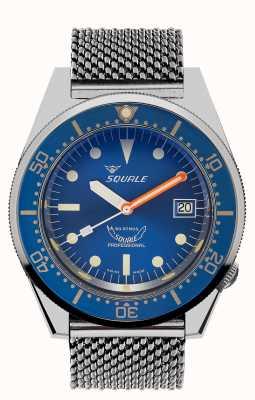 Squale 1521 oceaan mesh | blauwe wijzerplaat | roestvrijstalen mesh-armband 1521OCN-CINSS20