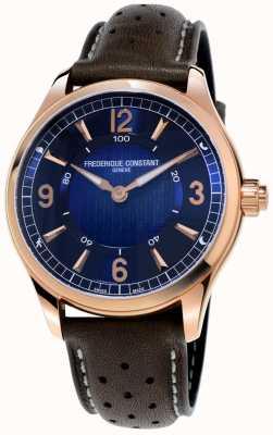 Frederique Constant Exclusieve horologische smartwatch | bruine lederen band FC-282AN5B4