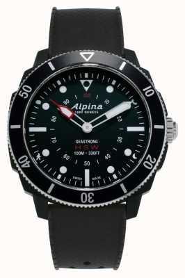 Alpina Seastrong | horologische smartwatch | zwarte siliconen band AL-282LBB4V6