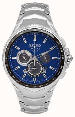 Seiko Coutura | roestvrijstalen armband | blauwe wijzerplaat SSC749P1