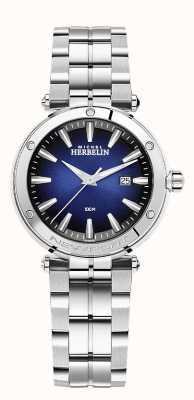 Michel Herbelin Newport voor dames   roestvrijstalen armband   blauwe wijzerplaat 14288/B15