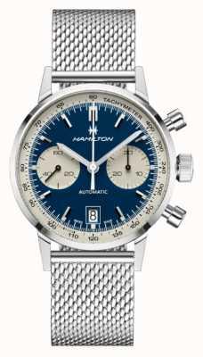 Hamilton Amerikaanse klassieker | intra-matic automatische chrono | stalen mesh armband H38416141