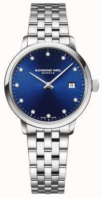Raymond Weil Toccata | 11 diamant blauwe wijzerplaat | roestvrij stalen armband 5985-ST-50081