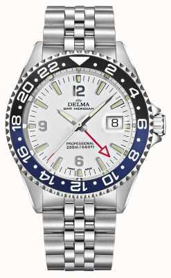 Delma Santiago GMT | stalen armband | witte wijzerplaat 41701.648.6.014