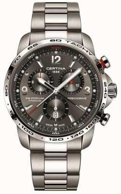 Certina DS podium quartz | grijze titanium armband | grijze wijzerplaat C0016474408700