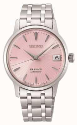 Seiko Voorwoord | vrouwen | roestvrijstalen armband | roze wijzerplaat SRP839J1