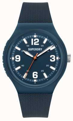 Superdry Navy soft touch siliconen mat blauwe wijzerplaat SYG345U