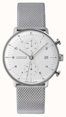 Junghans Max bill chronoscope | stalen gaasband | 027/4003.48