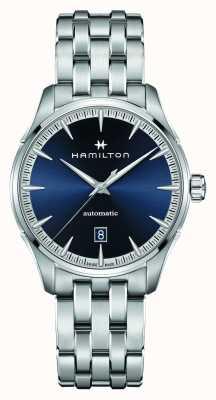 Hamilton Jazzmaster | auto | roestvrijstalen armband | blauwe wijzerplaat H32475140