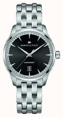 Hamilton Jazzmaster | auto | roestvrijstalen armband | zwarte wijzerplaat H32475130
