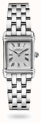 Michel Herbelin Art déco | roestvrijstalen armband | zilveren wijzerplaat 17478/08B2