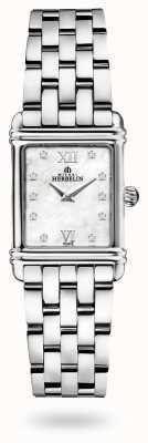 Michel Herbelin Art déco | roestvrijstalen armband | parelmoer wijzerplaat 17478/59B2