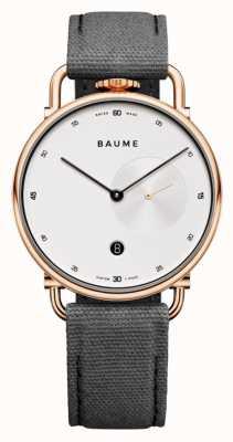 Baume & Mercier Baume | milieuvriendelijk kwarts | witte wijzerplaat | grijze kurkband M0A10600