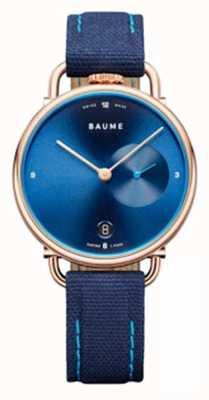 Baume & Mercier Baume | milieuvriendelijk kwarts | blauwe kurkband M0A10603