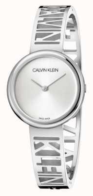 Calvin Klein Manie | roestvrijstalen armband | zilveren wijzerplaat | maat M KBK2M116