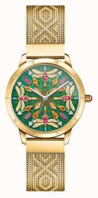 Thomas Sabo Glamour & soul | goudkleurige mesh armband | edelsteen libel d WA0369-264-211-33