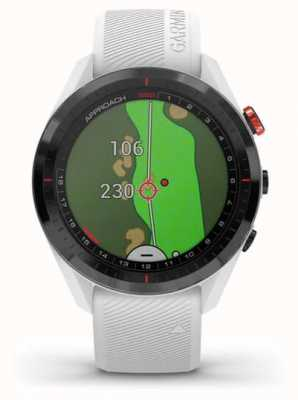 Garmin Aanpak s62   golf   gps   keramische lunette   witte siliconen 010-02200-01