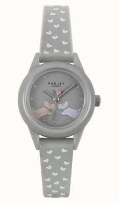 Radley Bekijk het! grijze siliconen damesband | grijze wijzerplaat RY21257