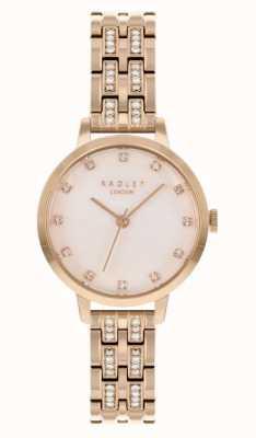 Radley vrouwen | rosé vergulde armband | witte wijzerplaat | RY4560