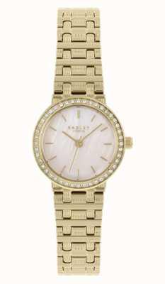 Radley vrouwen | vergulde stalen armband | parelmoer wijzerplaat | RY4564