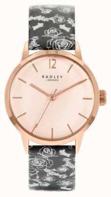 Radley Zwart patroon damesband | rose wijzerplaat RY21246A