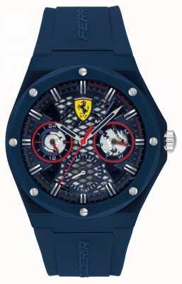 Scuderia Ferrari Aspire | blauwe siliconen herenband | blauwe wijzerplaat 0830788