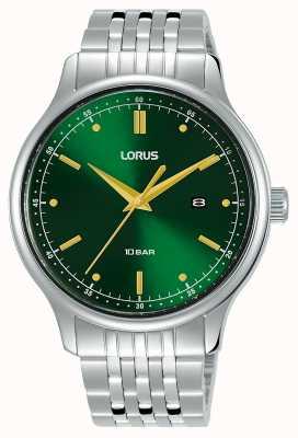 Lorus Heren | groene sunray wijzerplaat | roestvrijstalen armband RH907NX9