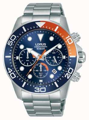 Lorus Heren | chronograaf | blauwe wijzerplaat | roestvrijstalen armband RT345JX9