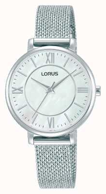 Lorus Dames | witte wijzerplaat | armband van roestvrij staal RG221TX9
