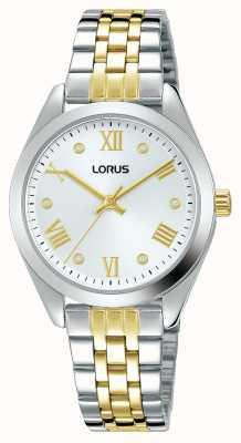 Lorus Dames | zilveren wijzerplaat | tweekleurige roestvrijstalen armband RG253SX9
