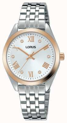 Lorus Dames | zilveren wijzerplaat | roestvrij stalen armband RG256SX9