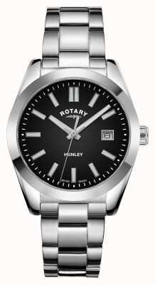 Rotary Dames | henley | zwarte wijzerplaat | roestvrij stalen armband LB05180/04