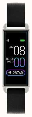 Reflex Active Serie 2 smartwatch | kleuren touchscreen | zwarte leren band RA02-2007
