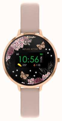 Reflex Active Serie 3 slim horloge | nude roze riem RA03-2014