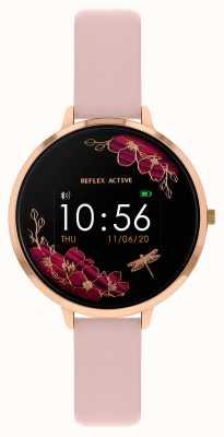 Reflex Active Serie 3 slim horloge | nude roze riem RA03-2038