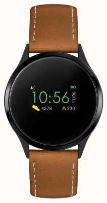 Reflex Active Serie 4 smartwatch | kleuren touchscreen | bruine band RA04-1000