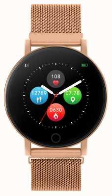 Reflex Active Serie 5 slim horloge | hr monitor | kleuren touchscreen | roségoud stalen gaas RA05-4016