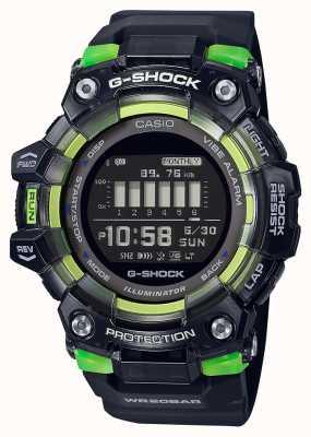 Casio G-schok | sport essentiële serie | zwarte siliconen band | zwarte wijzerplaat GBD-100SM-1ER